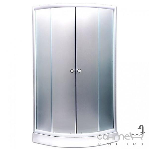 Душевые кабины, двери и шторки для ванн GM Душевая кабина GM GM6013 профиль хром, матовое стекло