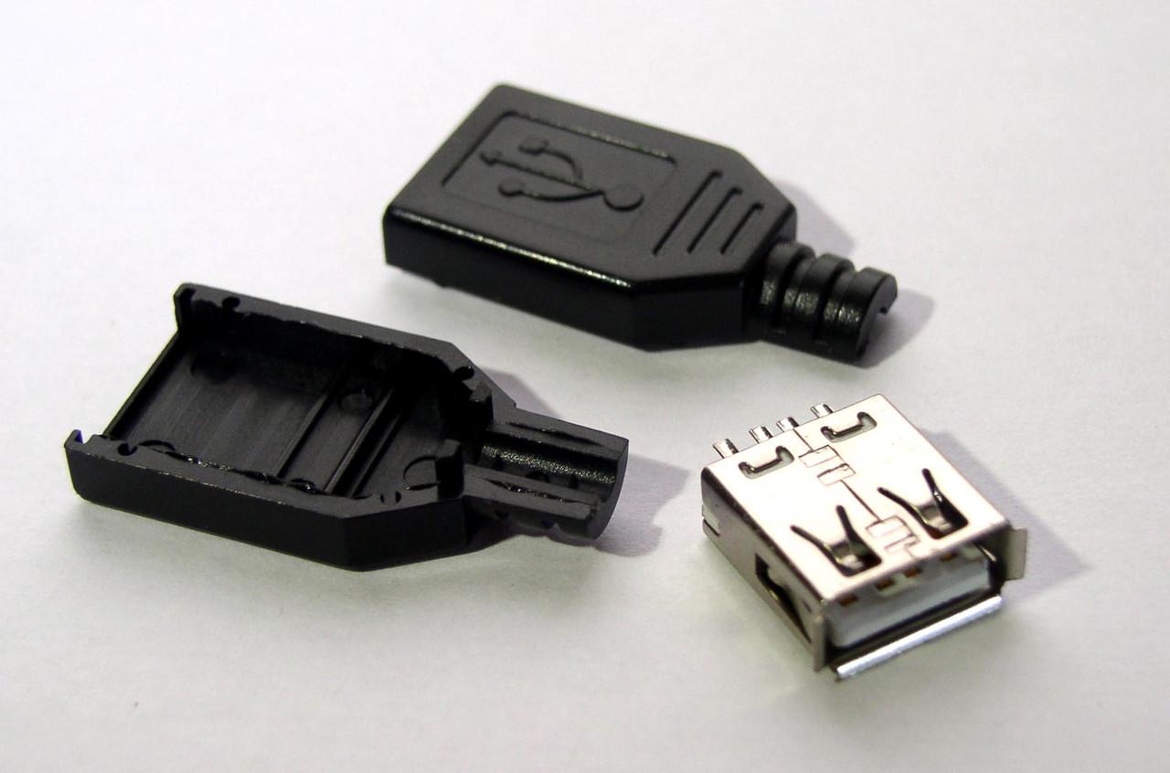 USB разъем «мама» из трех частей, для солнечных зарядных устройств