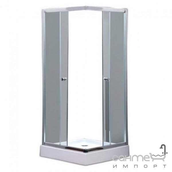 Душевые кабины, двери и шторки для ванн GM Душевая кабина GM KDS 002 профиль стальной, матовое стекло