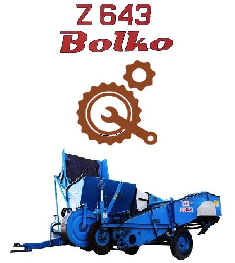 Запчасти для картофелеуборочных комбайнов Bolko Z643