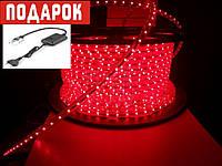 Светодиодный дюралайт LED-2W-100-240V (36 св. /м, АС 220 В, красный)