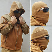 Куртка флисовая с капюшоном цвет койот