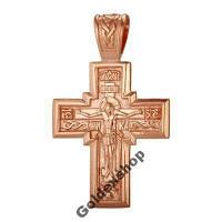 Крестик позолоченный 585пр №5406683 Подвеска, фото 1
