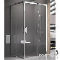 Душевые кабины, двери и шторки для ванн Ravak Душевой уголок раздвижной Ravak Matrix MSRV4-80/80 белый/прозрачное 1WV44100Z1