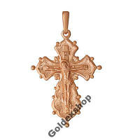 Крестик позолоченный 585пр. №5306