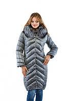 Зимнее женское пальто с мехом в 6ти цветах К-34, фото 1