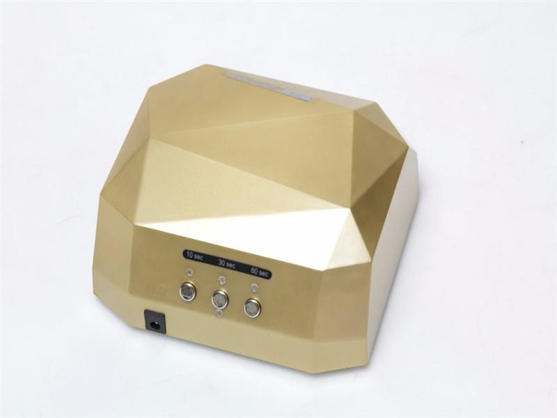 Диамант LED / CCFL (золотая)  Лампа для гелевого наращивания 36W(тяжелая)