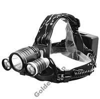 Налобный фонарь Police 6633 CREE T6+2XPE, RJ 3000