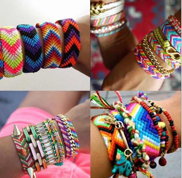 поделки-красочные-браслеты