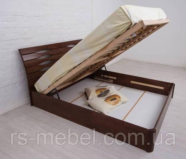 """Ліжко двоспальне """"Маріта V з підйомним механізмом"""", дерево (ТМ Олімп)"""