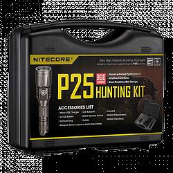 Набор для ночной охоты Nitecore P25, 960 люмен, 310 метров, 1х18650