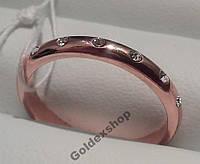 Обручальные кольца позолоченные с фианитами