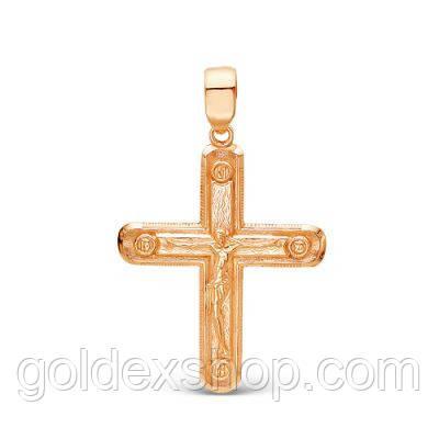 Позолоченный крест 585 пр №5407729