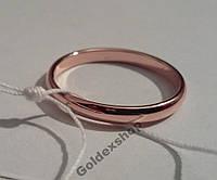 Позолоченные обручальные кольца 585 пр. Ширина 3мм