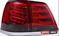 Toyota Land Cruiser LC 200 оптика светодиодная задняя красная дымчатая LED