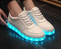 Светящиеся кроссовки led Светящиеся подошва, белые