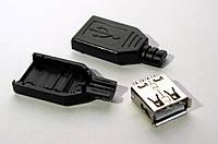 USB разъем «мама» из трех частей, для солнечных зарядных устройств, фото 1