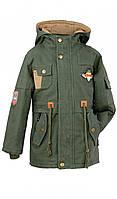 Куртка парка демисезонная для мальчика 104-110 размер