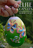 Резная свеча в форме яйца 10 см высотой, красивый подарок, украшение интерьера