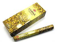 Аромапалочки Copal (Янтарь) (Hem) шестигранник