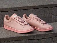 Женские кроссовки adidas Stan Smith - Raf Simons, цвет - розовый, материал - кожа, подошва - резина+полиуретан