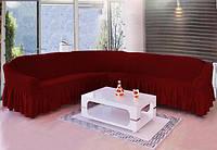 АКЦИЯ!!!Чехол  на угловой диван ТМ Demfirat Karven, цвет бордо  и еще 15 расцветок
