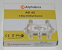 Коммутатор DiSEqC 4х1 Alphabox AD-42