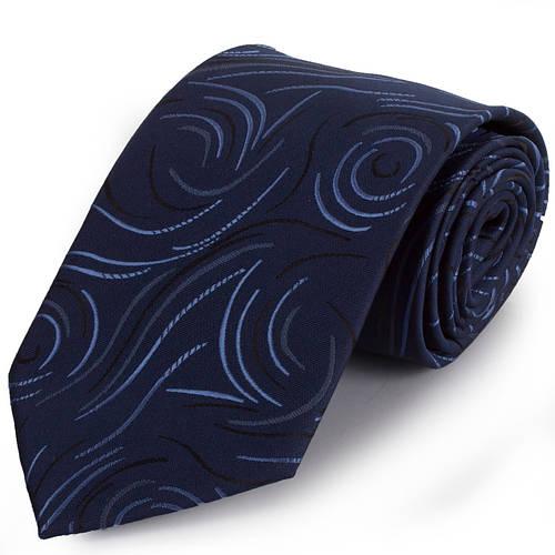 Стильный мужской широкий галстук SCHONAU & HOUCKEN (ШЕНАУ & ХОЙКЕН) FAREPS-01 синий