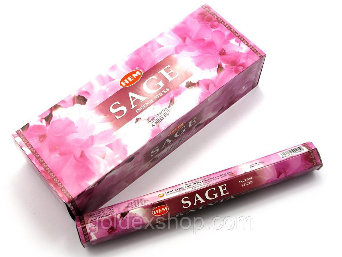 Sage (Шалфей) (Hem) шестигранник, аромапалочки