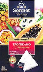 Чай Sonnet Тропікано чорний в пірамідках 20 шт.