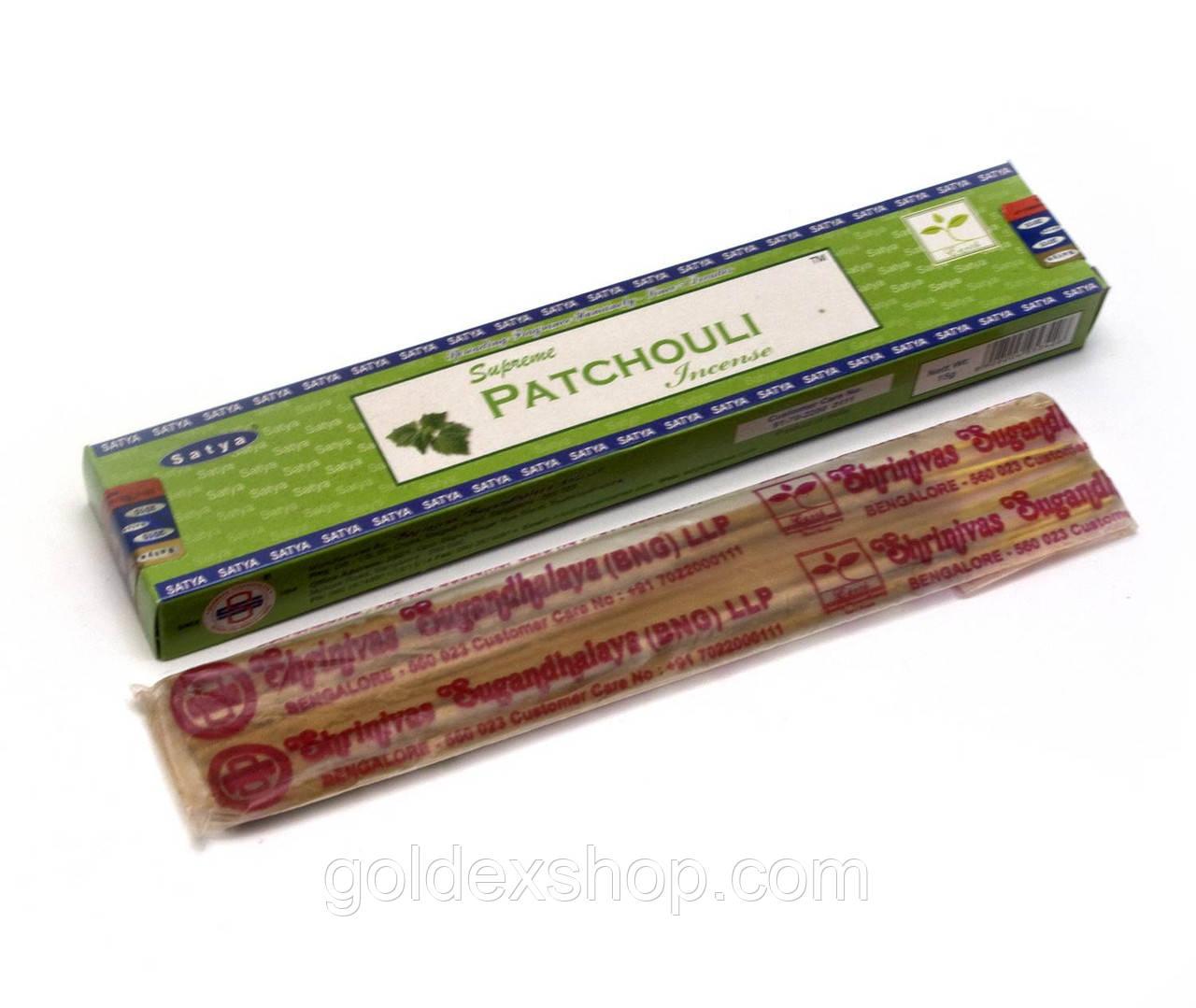 Supreme Patchouli (Пачули) (15 gm) (Satya) пыльцовое благовоние