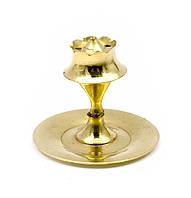 "Подставка под благовония ""Пешка"" бронза (5х5х5 см) (Agarbatti Stand small)"