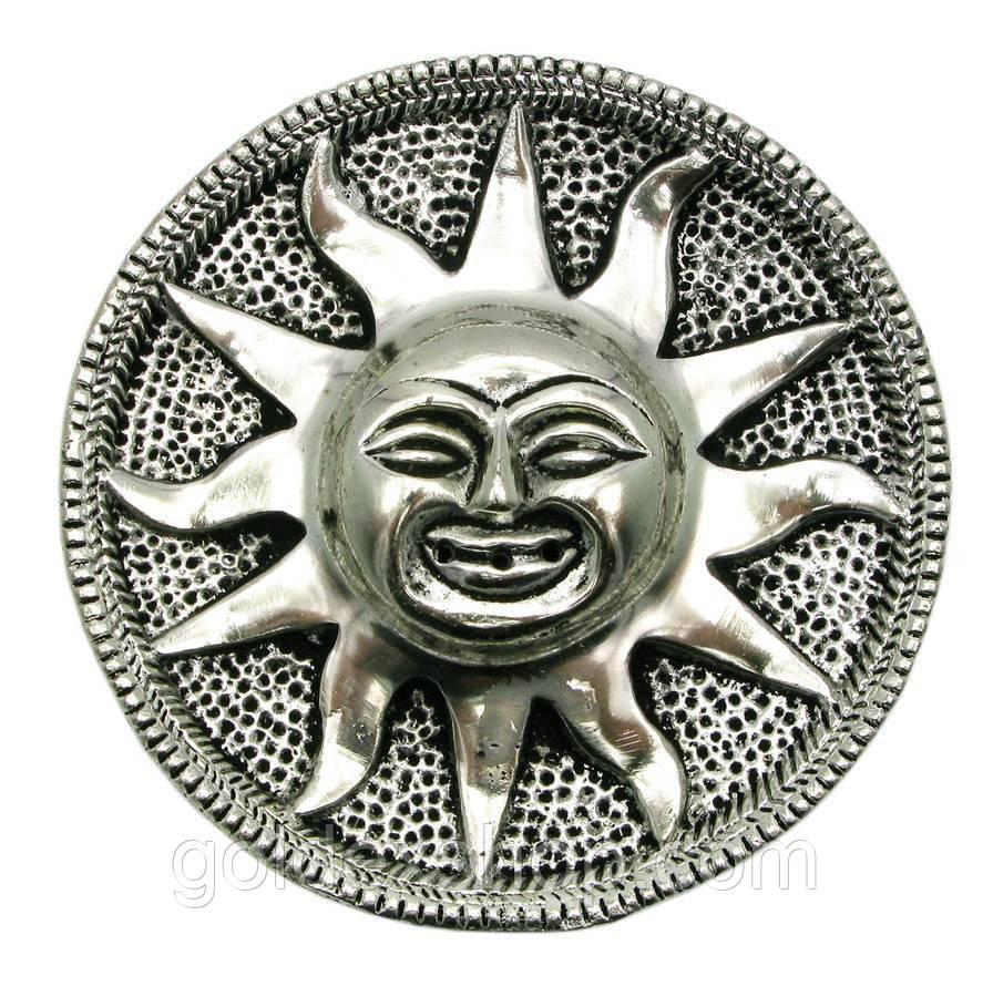 """Підставка під пахощі """"Сонце"""" метал (d 9 см) (Непал)"""