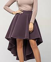 Юбка со шлейфом | Кашемир leo темно-лиловый
