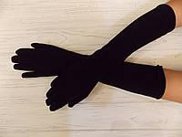 Перчатки длинные утепленные мех  40см
