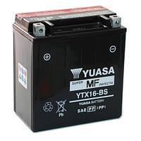 Аккумулятор мотоциклетный 14Ah 230A YUASA YTX16-BS , KAWASAKI VN-Vulcan / Zephyr, SUZUKI Intruder , SUZUKI ATV