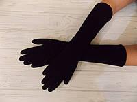 Перчатки длинные на флисе  40см