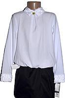 Школьная блузка для девочки белого цвета