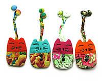 """Чехол для ключей -брелок """"Кошка"""" ткань (11х7 см)"""