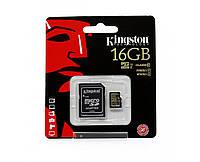Карта памяті Kingston MicroSD 16GB Class 10 UHS-I + SD-adapter (SDCA10/16GB)