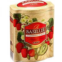 Чай черный Клубника и Киви Basilur коллекция Волшебные фрукты жб 100г