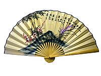 Веер бамбук с шелком в ассортименте (50 см)
