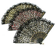 """Веер кружевной """"Леопард"""" (23 см)"""