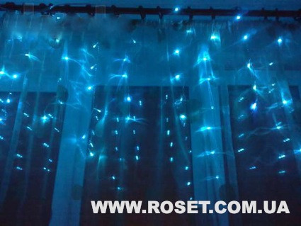 Гирлянда бахрома 200 LED 3 метра на 1метр