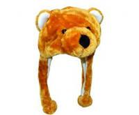Шапка с ушками Бурый медведь