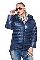 Демисезонная женская синяя парка Амина 44-52 размеры