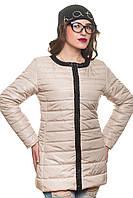 Стильная женская куртка весна-осень Вика жемчуг 42-54 размеры