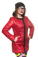 Яркая молодежная женская красная куртка Вика 42-54 размеры