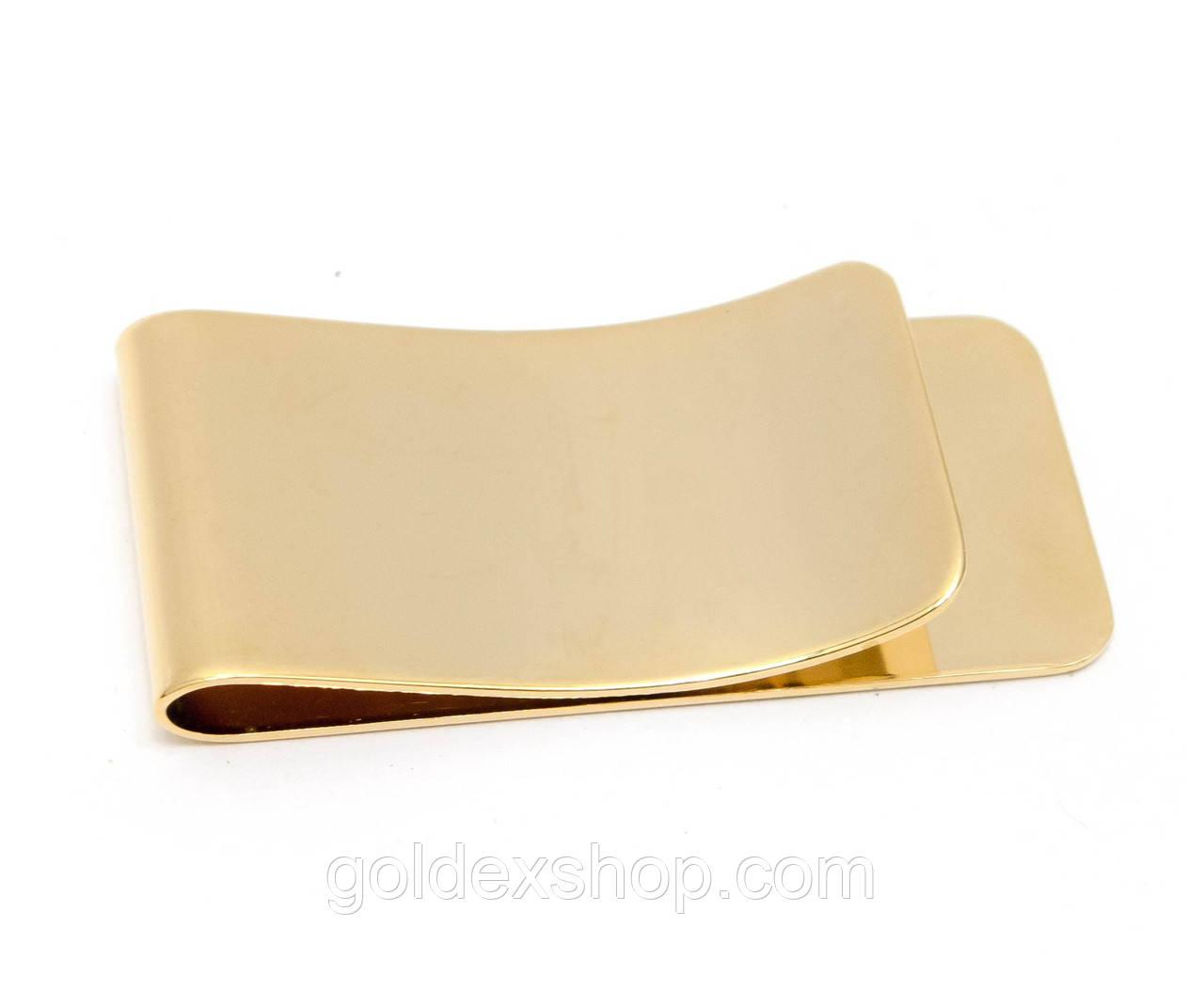 """Зажим для денег """"золото"""" (5х2,5 см)"""