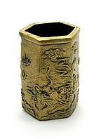 "Подставка для ручек ""Драконы"" под бронзу (11х7х8 см)"